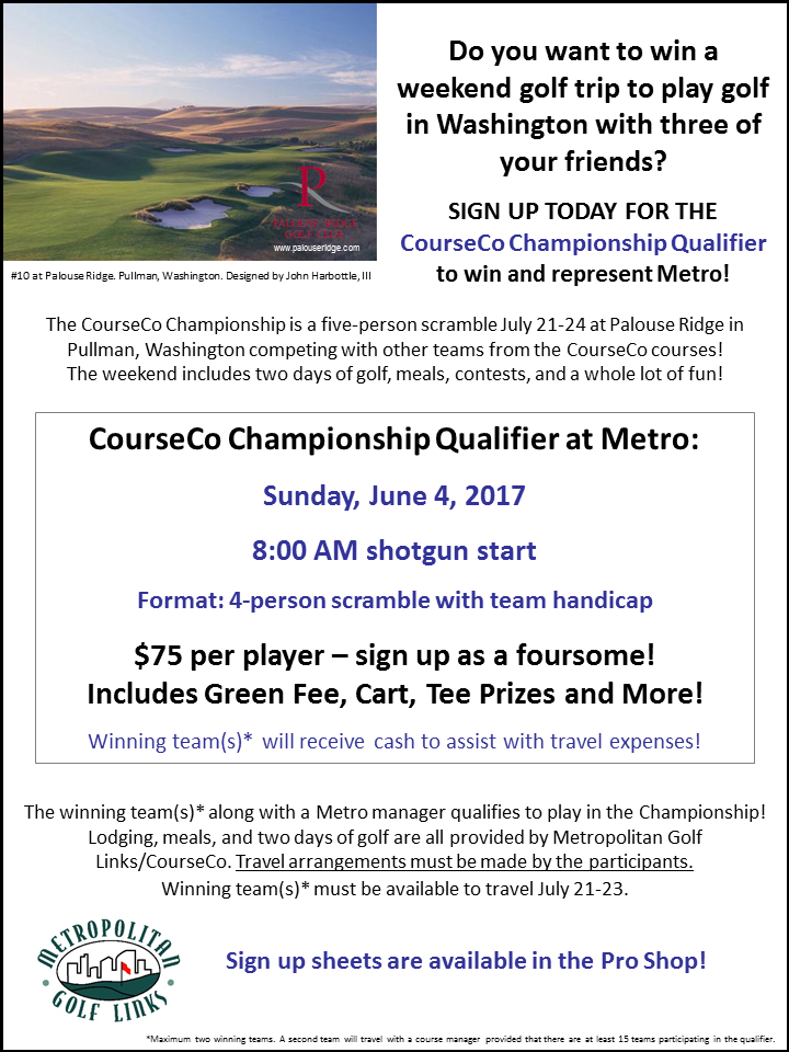 2017 CourseCo Qualifier flyer